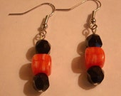 Fun Orange and Black Earrings