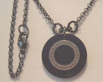 Bakelite Steampunk Necklace - Black