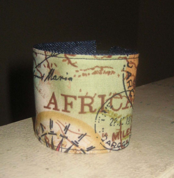 Free Shipping, CLEARANCE Africa Fabric Cuff,  READY to SHIP