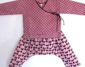 6 m.o. Retro Tulip Kimono Crossover