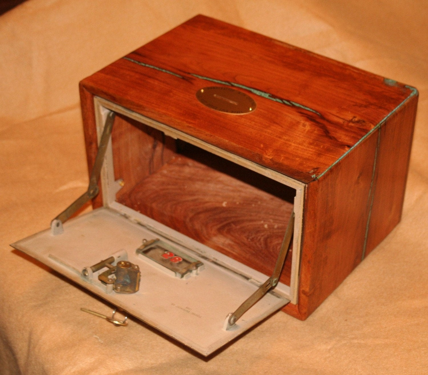 Large Mesquite Bank With Post Office Box Door With Key