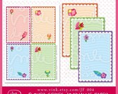 Printable Journaling Paper Flower Series - JF 004
