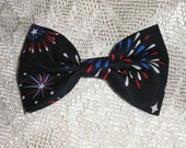 Handmade Boys Men Clip On Bow Tie Girls Hair Bow Navy Blue Red White