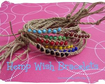 5 pack hemp Wish Bracelets