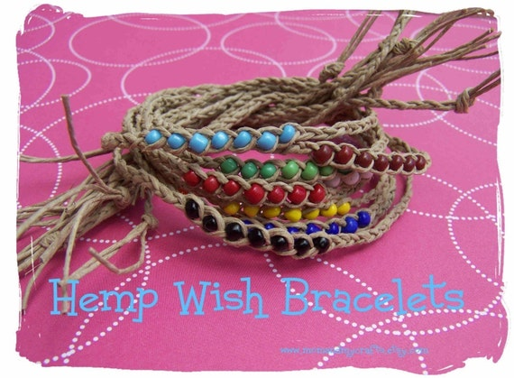 5 pack hemp Wish Bracelets
