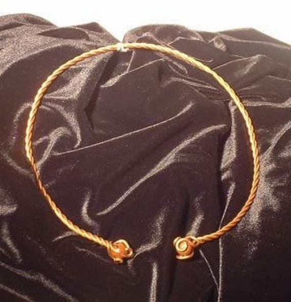Copper Neck Torc with choice of Stone and Length