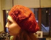 Mushroom Cap Hat Deep Red