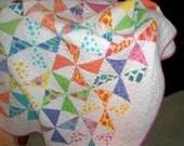 Handmade Pinwheel Quilt Spring Fever
