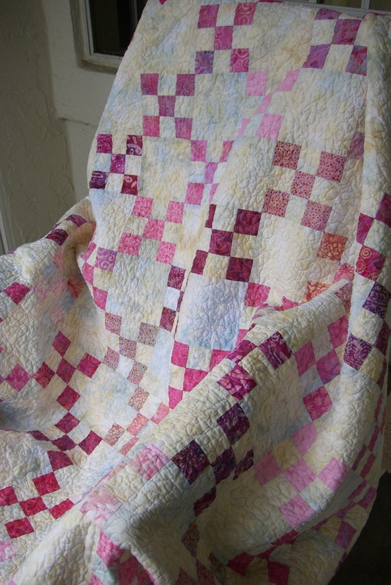Think Pink Nine Patch Quilt