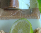Key Lime Pie Soap - Brown Sugar Scrub Soap with Yogurt and Brown Sugar - Citrus Lime Pie Crust Fragrance, Primitive Soap