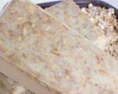 Holiday Sale - Oatmeal Milk and Honey Soap - Oatmeal, Real Honey, Sensitive Skin Soap - Face Soap