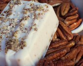 Holiday Sale - Hot Cross Buns Soap - Pecan Soap with Crunchy Pecans - Bakery Nutty Soap, Exfoliating Soap