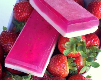 Strawberry Smoothie Soap - Strawberry Cream, Pink Fruit Smoothie, Summer Fruit Soap