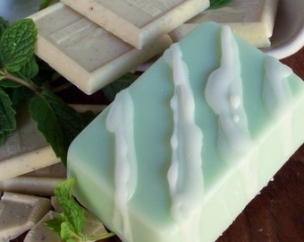 Vanilla Mint Cookie Soap - Vanilla with Mint Scented Soap, Dessert Candy Soap, Green Soap