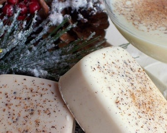 Holiday Eggnog Soap - Eggnog Scented Soap with Nutmeg, Holiday Christmas Thanksgiving, Festive Soap