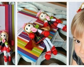 Spring Fashion Miniature Doll Hair Clips