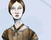 SALE -- Emily Dickinson paper doll