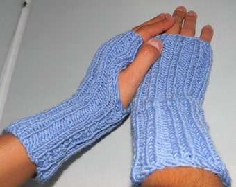 Knit pattern for fingerless gloves, knitting pattern for wrist warmers, hand warmers- great for beginners