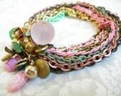 Antoinette Enamel Cluster Bracelet
