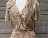 vintage 1970s champagne peplum jacket. FREE U.S. SHIPPING
