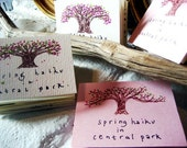 Spring Haiku in Central Park - Accordian Zine - New York City - Poetry