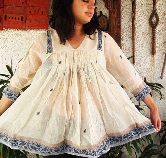 Organic cotton Indian Design summer top