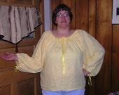 Custom Order for caszarek - Daffodil Yellow Linen Woman's Renaissance Chemise - SCA, LARP