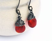 Red  passion drops earrings