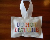 Cross Stitch Door Hanger - Do Not Disturb