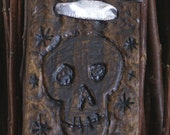 Skull Hand Carved Wall Hanging