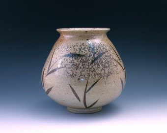 Shino Vase with Bamboo Brush Strokes