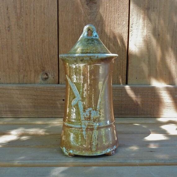 Pot Jar Lidded Wood Fired Bamboo -191