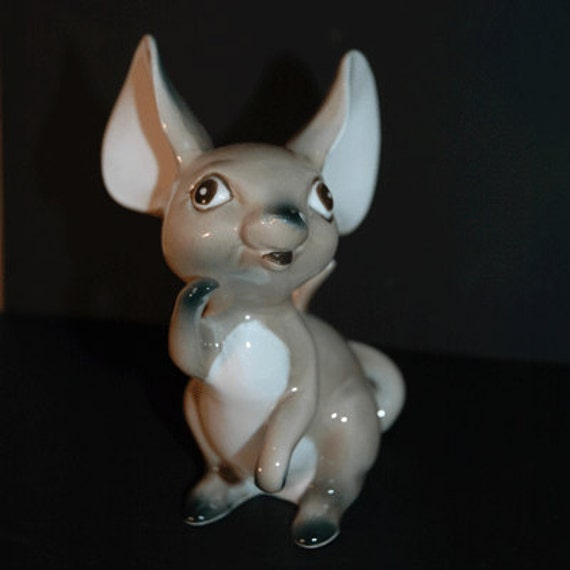 Adorable Ceramic Cartoon Mouse from the 1950's-60's--Price reduced