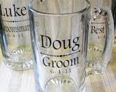 Groom Groomsmen Beer Stein Decals, Wedding Decals, Wedding Party Glass Decals, Glasses NOT included..