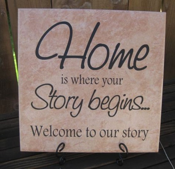 Home Is Where 12X12 Ceramic Tile..