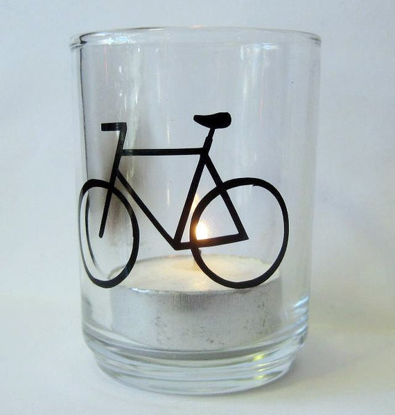 Candle Holders Bicycle Votive Set of 2