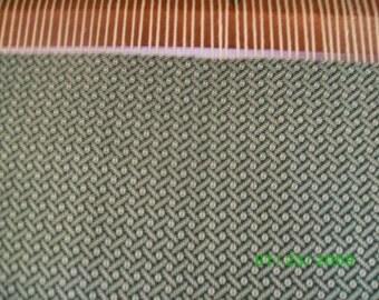 Cotton Quilt Fabric White  on Dark Green 18 x 44