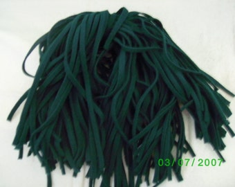 100  Mill Dyed Wool Rug Hooking Strips Primitive Green