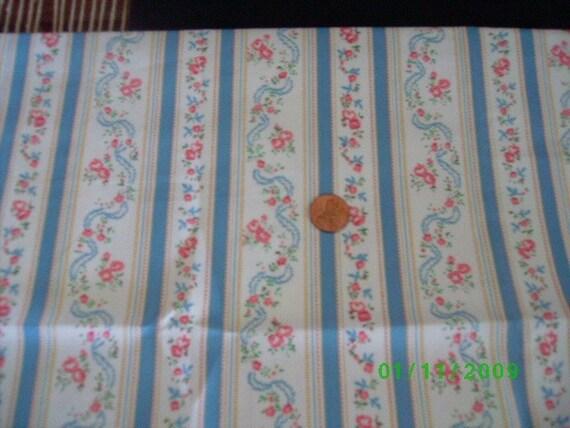 Vintage Style Pillow Ticking Cotton Quilt Fabric Fat Quarter