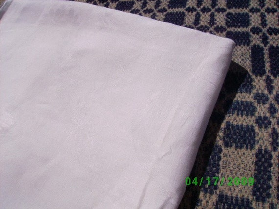 White  Vintage Damask Linen Tablecloth  New Trend Plant Dyeing & Sewing With Vintage Linens  Chuppa Wedding Canopy Quilt Backing