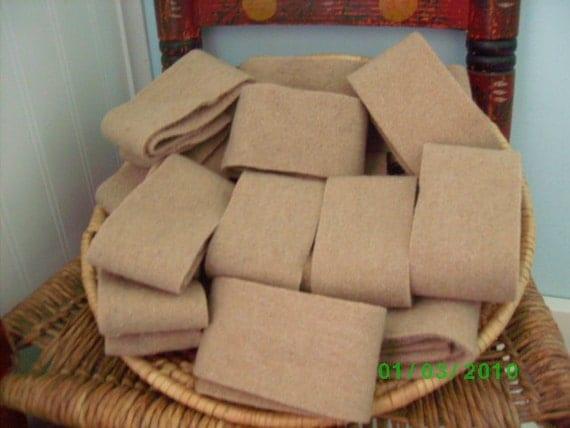 14 Rolls of  Rug Wool Strips   Camel