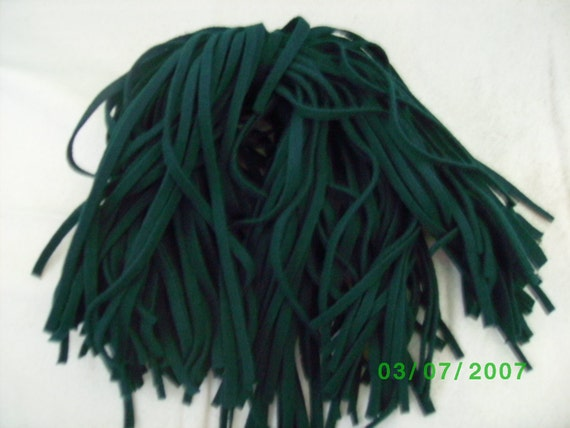 100  Wool Rug Hooking Strips Dark Forest  Green
