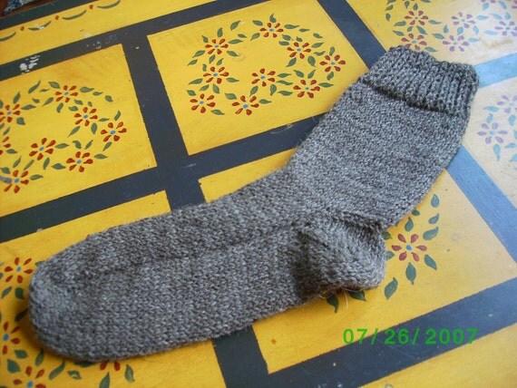 Hand Knit Fishermans Wool Socks Mens Sz.xLarge by ...