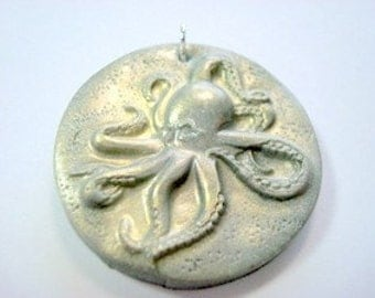 Octopus Out Handmade Polymer Clay Pendant