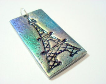 The Eiffel Tower Handmade Polymer Clay Pendant