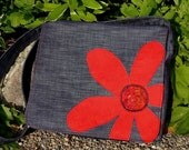 Red Flower Messenger Bag