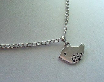 Silver Bird  Necklace, Bird Necklace, Bird Jewelry