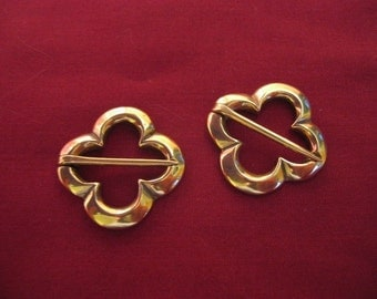 Medieval Annular Brooch Pair Quatrefoil SCA