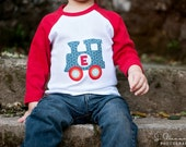 Train Baseball Tee, Personalized Toddler and Children's T-shirt