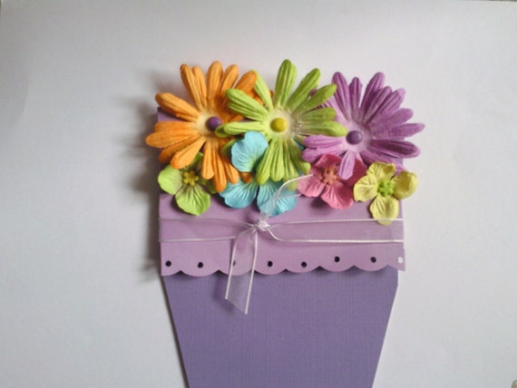 Spring Flower Pot Mother's Day Card